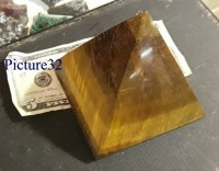 Large Tiger Eye Pyramid --Green Dragon - Product Image